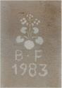 Desenho do vaso florido 1983. Arquivo Histórico Municipal de Alenquer